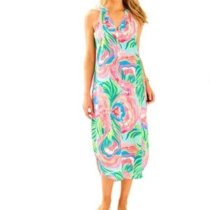 Lilly Pulitzer Bailey Silk Midi Dress